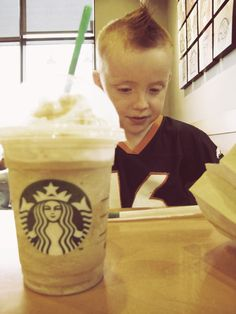 My cute redhead and coffee #starbucks #frapp