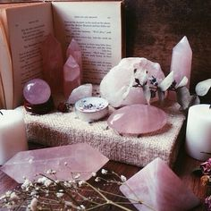 Rose Quartz crystals are great for generating and inspiring feelings of self-love and self-worth. Hold one when you're sad for a pick-me-up :)