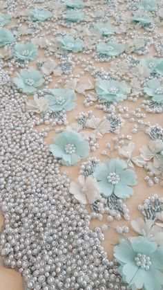 Wonderful Ribbon Embroidery Flowers by Hand Ideas. Enchanting Ribbon Embroidery Flowers by Hand Ideas. Pearl Embroidery, Tambour Embroidery, Couture Embroidery, Embroidery Dress, Beaded Embroidery, Hand Embroidery, Advanced Embroidery, Wedding Embroidery, Embroidered Lace