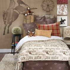 images of twin size western bedding   ... Cowboy Horse Western Twin Full Queen Duvet Cover Bedding Set   eBay