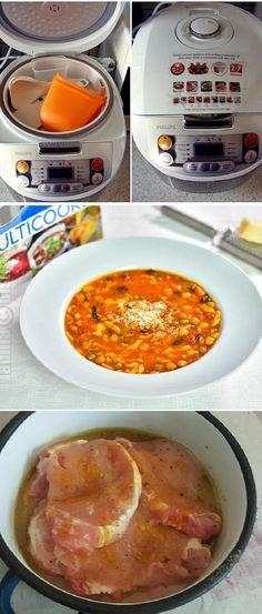 219 rețete simple pentru <b>Retete La Multicooker</b> Multicooker, Cheeseburger Chowder, Food Art, Risotto, Foodies, Avocado, Curry, Food And Drink, Soup