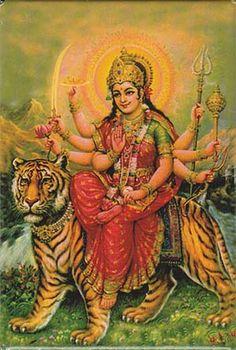 old style Durga Art
