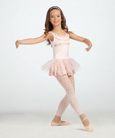 Take a look at this Pink Footless Tights - Girls by Capezio on #zulily today!