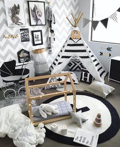 ⠀ // Monochrome playroom / Plenty of details but our # favorite is the wallprint / What is yours? / Be a part of our family and tag your photo with #mynordicroom  //⠀ Photo credit: @hudson_and_harlow ⠀⠀ .⠀ .⠀ .⠀ Don't miss out on your daily Nordic interior design and lifestyle inspiration! Follow us on Facebook  / Link in bio  ⠀ .⠀ .⠀ .⠀ #finahem #nordicdesign #nordicliving #homedecor #nordicinspiration #minimalistic #nordiskehjem #nordic #design #interior4all #interior123 #interi...