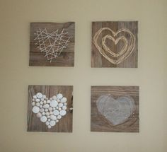 Pallet Heart Art by Julie @ Renew-Create-Restore.blogspot.ca