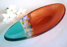 """""""Easter"""" fused & painted glass dish by Stacey Alysa"""