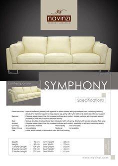 symphony Outdoor Sofa, Outdoor Furniture, Outdoor Decor, Polyurethane Foam, Hardwood, Cushions, Contemporary, Home Decor, Throw Pillows