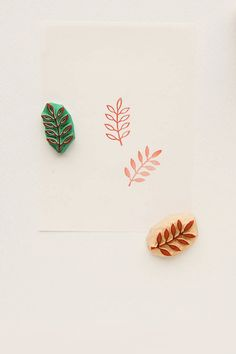 A small not mounted rubber stamp of a rowan leaf available in two different styles. The stamp is caved from quality rubber by hand. The color of gum we use differs from piece to piece, so your stamp may be a little bit different from the image, but will retain the quality of the imprint. The stamp is sold in two variants (pick an option that suits you best): - unmounted (and you will be able to use it with a clear acrylic block) - on a wooden handle. Image SIZE: 2.8 x 1.5 cm (1 7⁄64 x 19⁄...
