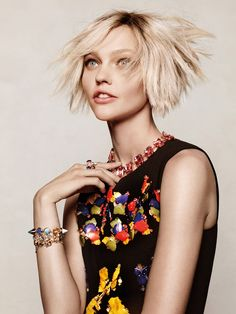 """Playing It Cool""   Model: Sasha Pivovarova, Photographer: Jason Kibbler, Vogue Korea, December 2014"