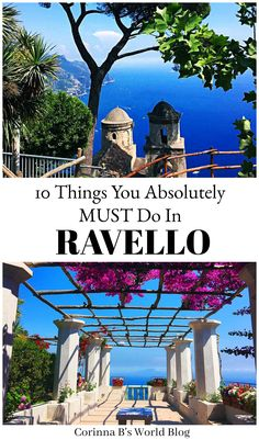 10 Things You Absolutely MUST Do In Ravello Ravello is one of the loveliest towns on the Amalfi Coast. Perched up high with views to die for and a fascinating history, you need to add Ravello to your Amalfi Coast itinerary. Here are 10 things you MUST do in Ravello (don't miss number 5!!) #Ravello #AmalfiCoast #Campania #Naples #Positano