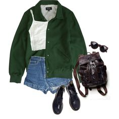 lake by junk-food on Polyvore featuring American Apparel, Dr. Martens, Free People and Brixton