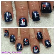 44 Best Nail Art Images On Pinterest Nail Nail Australia Day And