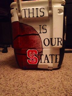 NCSU painted cooler #ncstate #ourstate #wolfpack