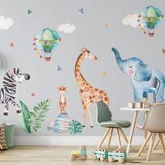 Jungle Monkey Children's' Wall Sticker Set | Etsy Animal Wall Decals, Kids Wall Decals, Nursery Wall Decals, Nursery Decor, Bedroom Wall, Nursery Stickers, Childrens Wall Stickers, Floor Stickers, Window Stickers