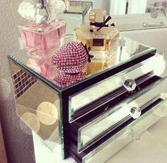 Mirror Makeup Storage. Pretty