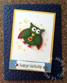 Stampin' Up! Owl Punch Art: Super Owl owl punch, super owl