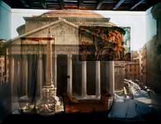 abelardo morell: camera obscura   the pantheon in hotel albergo del sole al pantheon, room # 111, rome, italy, 2008