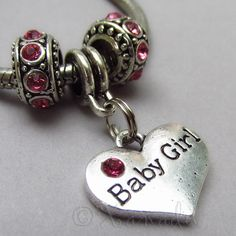 Baby Girl Pink European Charm Beads Trio For All by xanaducharms