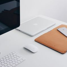 """Keep it simple - by @nicolay.t - Folio Sleeve for 13"""" Macbook Pro and Air limited availability through resellers worldwide. #mujjo ⠀"""