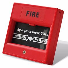 Break Glass Manual Call Point Conventional Fire Alarm System Accessories. Click visit to buy