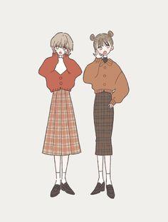 Character Art, Character Design, Korean Art, Illustration Girl, Illustration Fashion, Anime Outfits, Anime Art Girl, Aesthetic Art, Anime Style