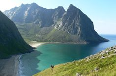 Lofoten, Norway. Glorious Kvalvika.