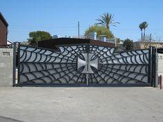 Jesse James' front gate