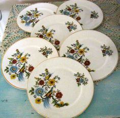 Vintage Arklow Ireland Bread and Butter Plates by Sisters2Vintage, $42.00