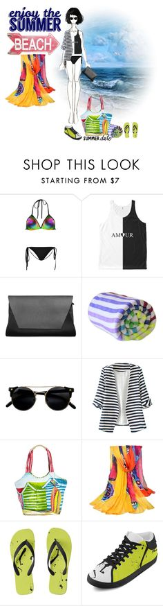 """""""Black & White   Beach Summer Date"""" by silkester ❤ liked on Polyvore featuring Sissa, Las Bayadas, WithChic, Sun N' Sand, Black Apple, beach and summerdate"""