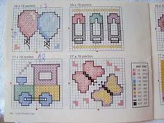 Ponto cruz: graficos bebes ponto cruz