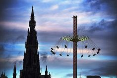 Edinburgh, Scotland    A winter carnival ride in Edinburgh, December 18, 2014.