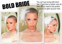 Bald bride.... Hmmmm.....options.
