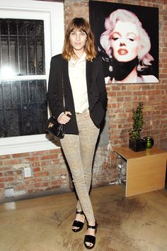 Alexa Chung in a city chic ensemble