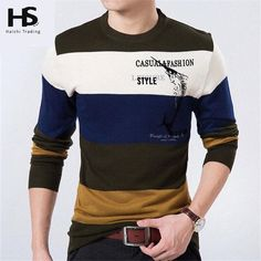 Buy from us Men's Sweaters Pullover Cashmere Striped Sleeve Wool. Get a discount for the entire collection Men's Sweaters . Mens Fashion Sweaters, Sweater Fashion, Men Sweater, Best Smart Casual Outfits, Athleisure Trend, Pullover, Mens Tops, Fish, Printed