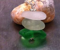 Sterling Silver Genuine Sea Glass Necklace by TulaTinkers on Etsy, $15.00