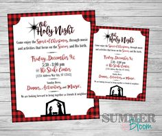 Ward or Church Christmas Party Poster and Invitation by SummerBloomCreations on Etsy