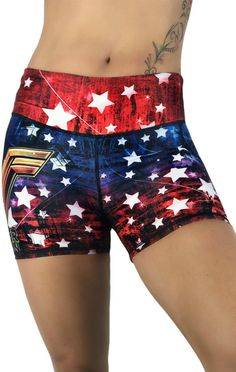 Everyone loves the superhero, Wonder Woman! These super colorful and fun shorts fit great, last forever and will make your friends jealous! FEATURES One size fi Cycling Shorts, Running Shorts, Workout Shorts, Sport Shorts, Women's Shorts, Shorts Outfits Women, Athletic Outfits, Gym Shorts Womens, Athletic Clothes