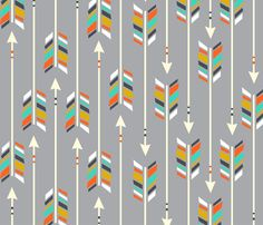 Large Arrows: color POP fabric by nadiahassan on Spoonflower - custom fabric