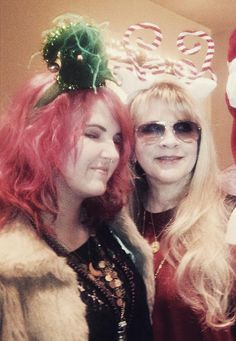 Jessica Nicks, and her aunt Stevie, all decked out for Christmas  ~ shared by Nixi (Jessica) on Instagram;   ☆♥❤♥☆ nicks#candid#2010s#2012