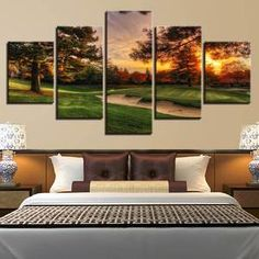Click the BUY IT NOW Button! Fast and Secure Free Worldwide Shipping! Exceptionally designed with love and care! Our premium quality framed canvases Canvas Frame, Canvas Wall Art, Sunset Canvas, Sunset Landscape, Home Decor Paintings, Canvas Art Prints, Golf Courses, Living Spaces, Wall Decor