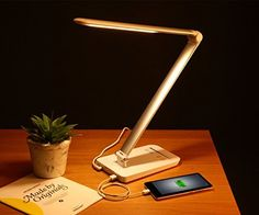 metal body-Eye Protection LED Desk Lamp 9W with Touch Control 12 Levels Dimmable and 5 Lighting Modes(warmwhite to Coolwhite Tunnable), Aluminum Arm and Head Rotatable, Time Delay Function, USB Charging Port (Silver), http://www.amazon.com/dp/B00PA3U6OM/ref=cm_sw_r_pi_awdm_H7yWub06X74S8
