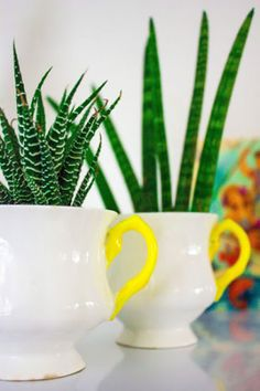 Creative: Eleven Things To Make For Your Mum  (Neon pop tea-cup tutorial via Mireille)
