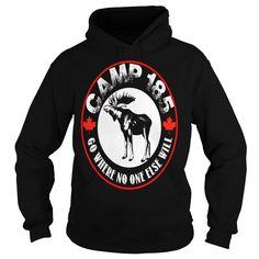 HUNTING HOODIE TSHIRT Camp 185 Moose Tee 2016 217