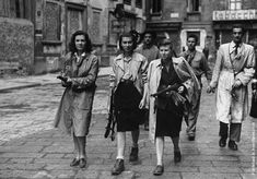 Resistenza partigiana, Partisan Resistance, were pro-Allied Italians during WWII. The Partisans were responsible for finding and executing Mussolini.