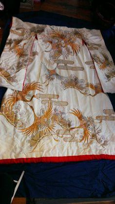Exquisite Vintage wedding kimono 1910 figured silk by NoemisArk