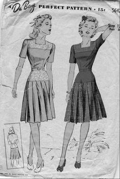 Drop waist and pleats would suit me, I reckon.