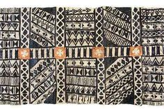 Fiji - Tapa Cloth - Pigment Mulberry Bark