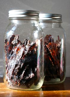 Lean, grass-fed beef is perfect for making jerky. Make a teriyaki garlic-chili jerky version or homemade mustard-maple smoked jerky. Jerky Recipes, Beef Recipes, Real Food Recipes, Cooking Temp For Beef, Cooking Corn, Cooking Pumpkin, Homemade Mustard, Making Jerky, A Food
