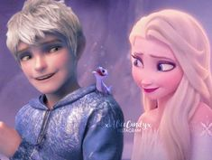 Elsa and Jack Frost - Jelsa - Frozen of the Guardians by Jack Frost Und Elsa, Jake Frost, Jack And Elsa, Disney Princess Frozen, Disney Princess Pictures, Elsa Frozen, Sailor Princess, Princess Luna, Jelsa
