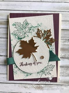 "Laura Milligan, Stampin' Up! Demonstrator - I'd Rather ""Bee"" Stampin!: Search results for Colorful seasons Fall Cards, Holiday Cards, Christmas Cards, Making Greeting Cards, Greeting Cards Handmade, Leaf Cards, Stamping Up Cards, Thanksgiving Cards, Scrapbooking"